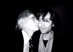 artistandstudio:  Andy Warhol and John Lennon   (via)