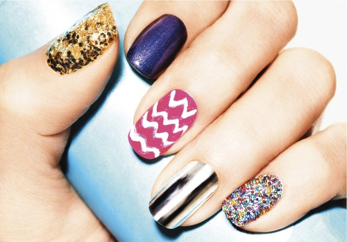 glamour:  Today on Girls in the Beauty Department: 5 OMG Nail Ideas Anyone Can Do