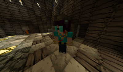 What I looked like in Jolicraft during the zombie event. (courtesy of blckhrt141)