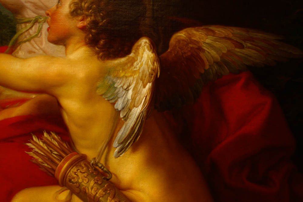 Diana and Cupid ( 1761), detail, by Pompeo Girolamo Batoni