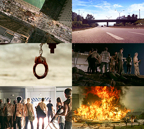 Last shots in season one of The Walking Dead