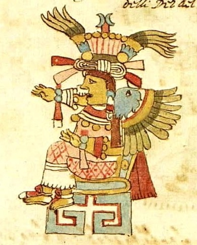 "moonshinedervishes:  The Aztec goddess of the earth, flowers, plants, games and dance, but mainly she is a goddess of love. She is also the patroness of artisans, prostitutes, pregnant women and birth. Originally Xochiquetzal (""Flower Feather"") was associated with the moon. This goddess is the most charming of the Aztec pantheon and her retinue consists of butterflies and birds. Every eight years a feast was held in her honor where the celebrants wore animal and flowers masks. She is the twin sister of the flower prince Xochipilliand sometimes mentioned as the wife of the rain god Tlaloc."