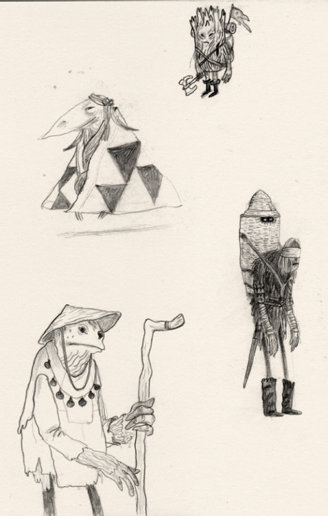 And some pencil doodles.