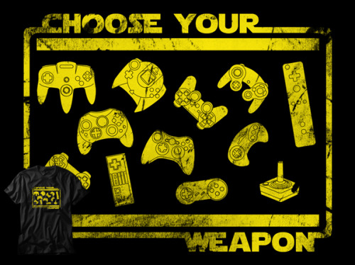 gamefreaksnz:  Choose your weapon by bomdesignz USD$28.21 Here you will find some of the most iconic controllers ever. From the very beginning of console gaming up to date.