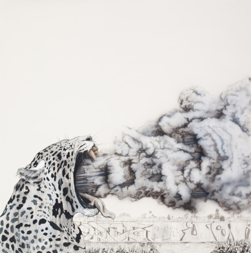 2headedsnake:  lordblakely.com Blakely Dadson, Vexed , 2011, acrylic, watercolor pencil, and charcoal on paper - 51.5 x 51.5 inches