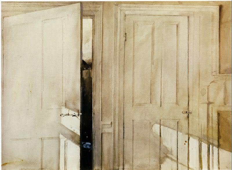 tamburina:  Andrew Wyeth, Open and Closed