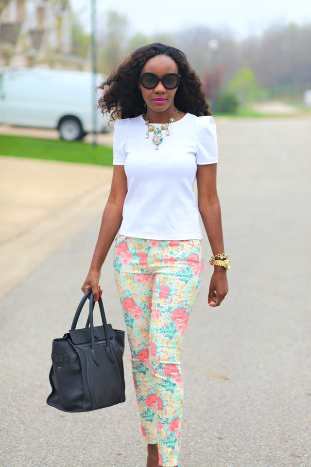 the-streetstyle:  Floral Pants