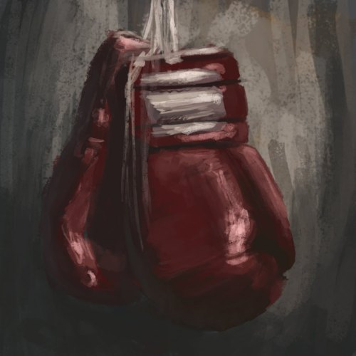 inallthingsbalance:  Boxing Gloves Painting