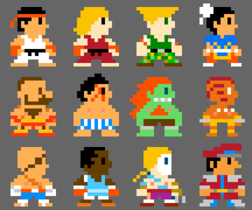 dorks-r-us:  Super Street Fighter Bros 8bit by ~torokun