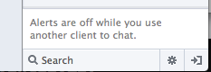 Facebook - When using an external chat application all chat notifications are turned off. /via Joshua Kehn