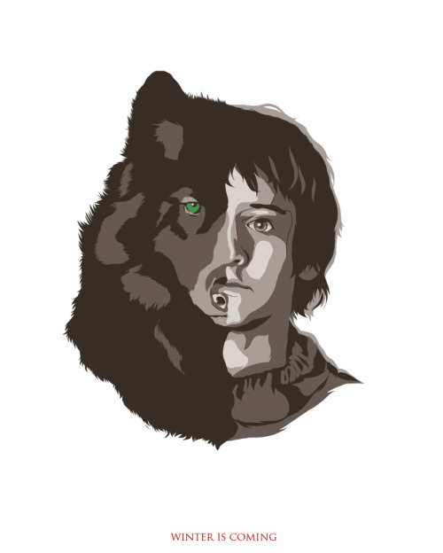 Rickon Stark. Only two Stark kids left and I'm done with the series. PRINT AVAILABLE HERE