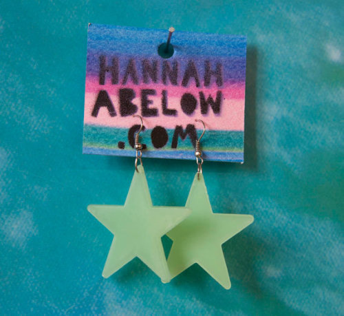 Also glow in the dark star earrings!!