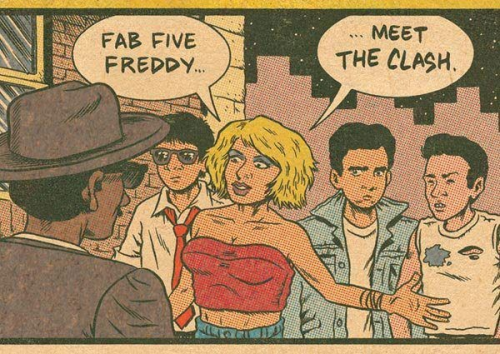 Fan 5 Freddy meets The Clash… I think that's Deborah Harry.