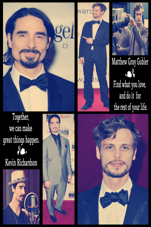 Kevin Richardson + Matthew Gray Gubler = ♥