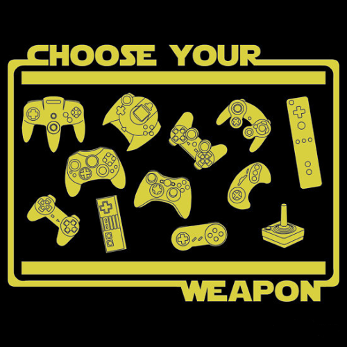 insanelygaming:  Choose Your Weapon Created by bomdesignz Available on RedBubble