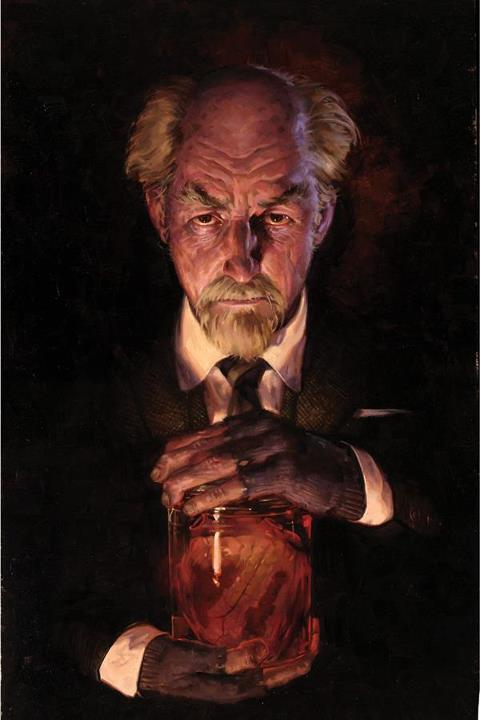 "Cover for ""The Strain"", painted in oil by Erik Gist.  This is a new comic series based on a story by director Guillermo Del Toro."
