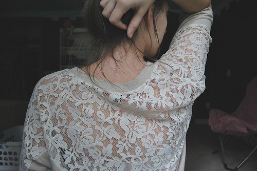 forever-and-alwayss:  I'm looking for a bunch of lace tops - lace is cuuute !