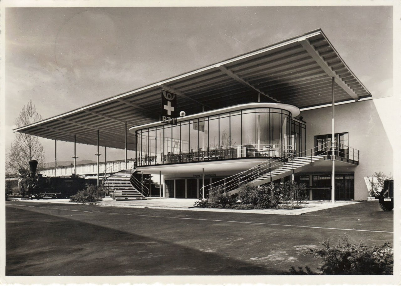 Black & White Architectural Photo [49] PTT Pavillon - Landesausstellung 1939 Zurich source