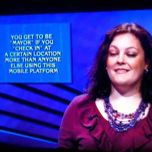 dpstyles:  Holy cow @foursquare as an answer on Jeopardy? My work here is done!  (Taken with Instagram at foursquare HQ)