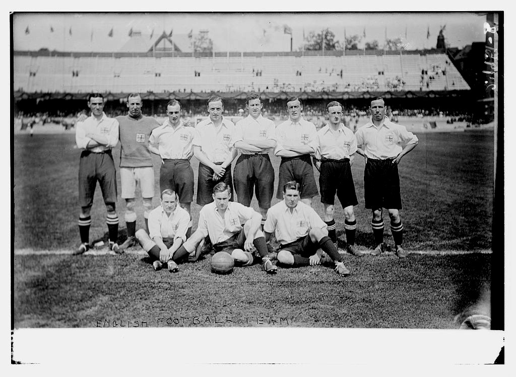 The Great Britain* squad sporting the Union Jack on their shirts poses for a group photo at the 1912 Summer Olympic Games in Stockholm, Sweden.Source: Library of Congress