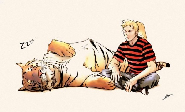 mariisolaa:  Calvin & Hobbes all grown up