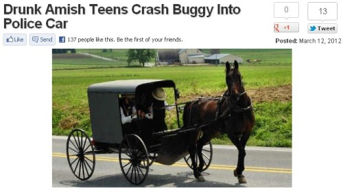 those damn Amish kids and their shenanigans.