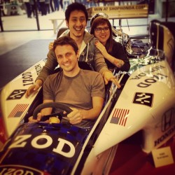 Interns in a race car in our lobby #rpa (Taken with instagram)