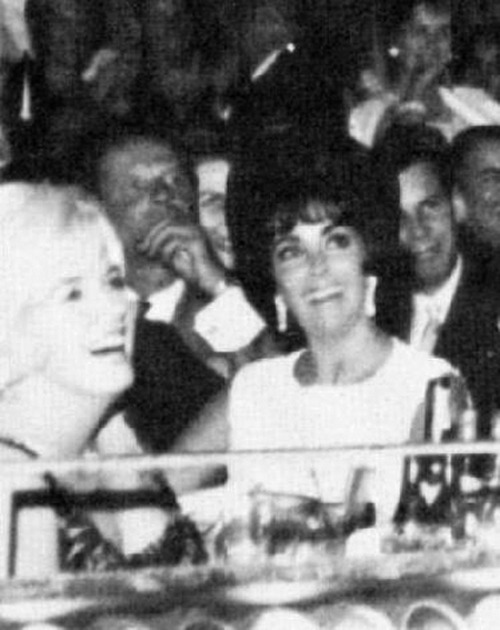 My two favorite classic actresses. Marilyn Monroe and Elizabeth Taylor together.