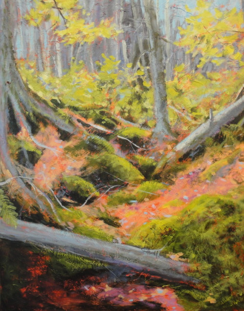 "Spring Forest / 30"" x 24"" / acrylic © Holly Friesen #art #painting"