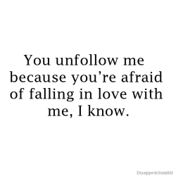 This is to all the bitches who unfollowed me !!