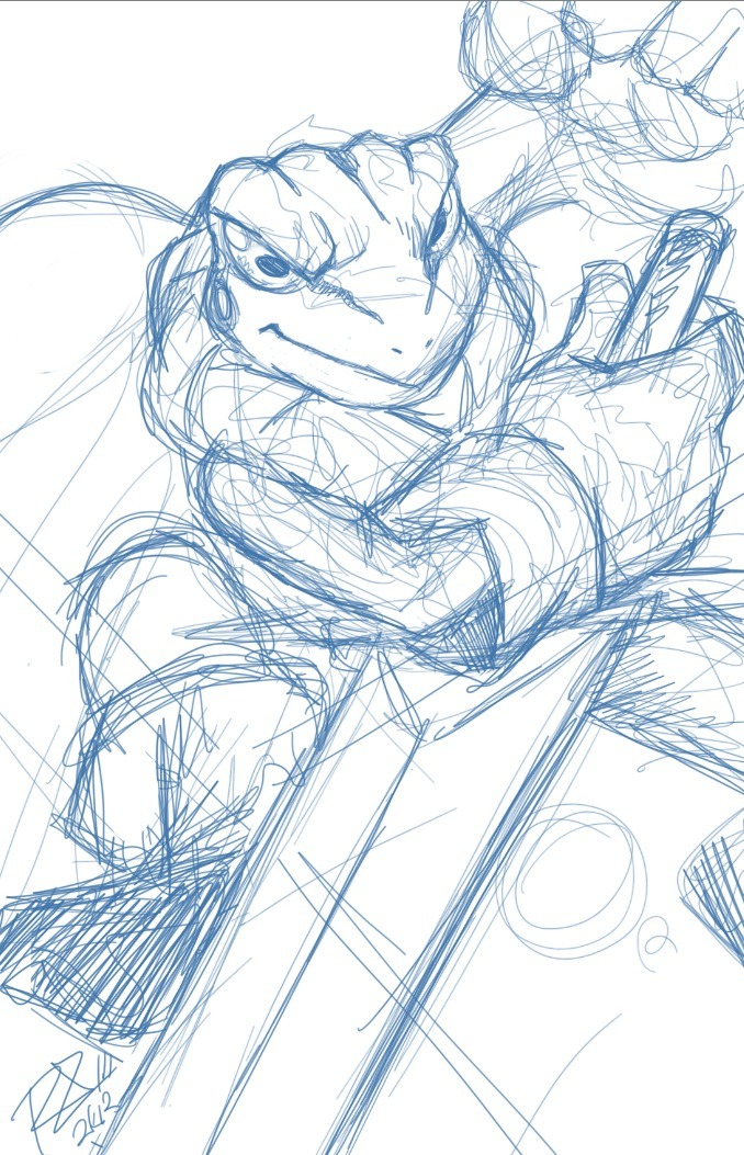 "10-minute Frog (Glenn) scribble.  I tell ya, once I get started on Chrono Trigger, it's hard to stop. Done while listening to this. ""RIBBIT RIBBIT RIBBIT RIBBIT RIBBIT RIBBIT RIBBIT"""