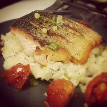 Gordon Ramsay's Crispy Salmon with Crushed Potatoes I was looking for something to do with this fresh salmon I just bought. I'm forcing myself to cook all this week until I start liking it. (Ugh. Growing up.) I watched Gordon Ramsay's video on YouTube and was on speakerphone with my friend the whole time. Before I knew it, dinner was done! The only thing I haven't mastered yet is getting the portions right. I made enough for two servings and only ate three-quarters of it. Leftovers are great, but sometimes I don't eat them in time before they go bad :( Submitted by Krystal Davis