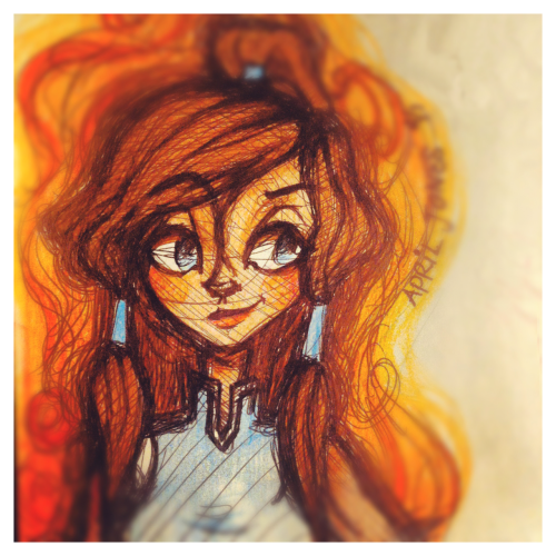 I colored the original sketch of Korra for the favorite character fandom ask meme (still so much more to dooo) with some color pencils and put a filter over it in instagram. It took me less than half the time as the Photoshop one and I'm way more pleased with it… What the heck self, what the freaking heck! Oh, you can follow me on instagram @jonesygeri. I post sketches and updates of my day-to-day life. If you don't have one there is a link to view my photos on my tumblr.