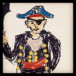#drawsomething pirate (Taken with instagram)