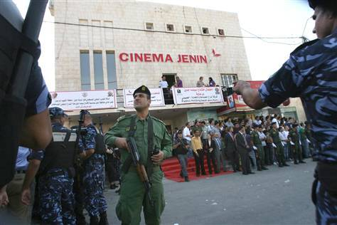 """Israeli authorities forced Palestinian movie theaters to shut during the first intifada in the 1980s"" interesting that the government would shut down theaters, of all things. is cinema, can cinema be a threat to authority?"