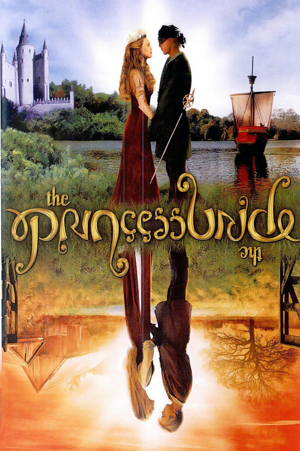 the Princess Bride : Poster. Lovely typography, can be read right side up and upside down! Love seeing the type match the whimsy of the story.