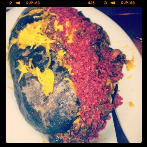 Chopped Beef Baked Potato #FoodSwag (Taken with instagram)