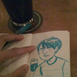 lou-bot:  Bar #doodle. Stout beer and drawing! (Taken with instagram)
