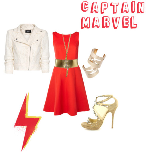 my captain marvel-inspired outfit via Captain Marvel)