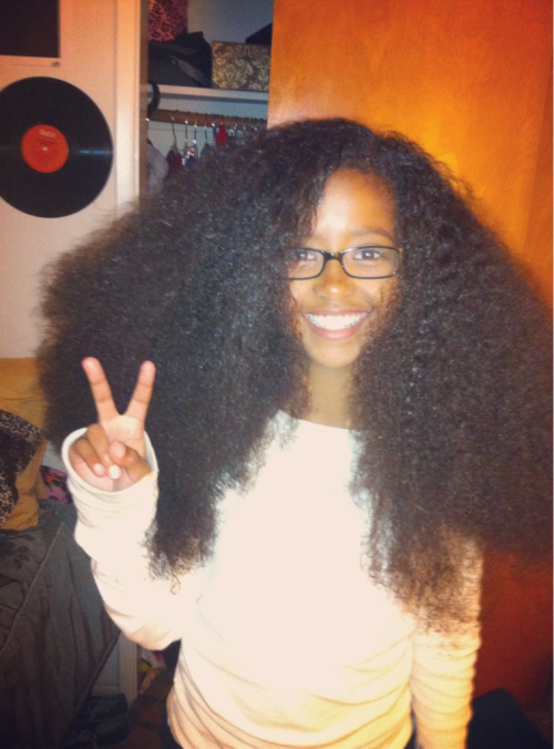 freeyourdome:  Brushed my baby's hair out :)