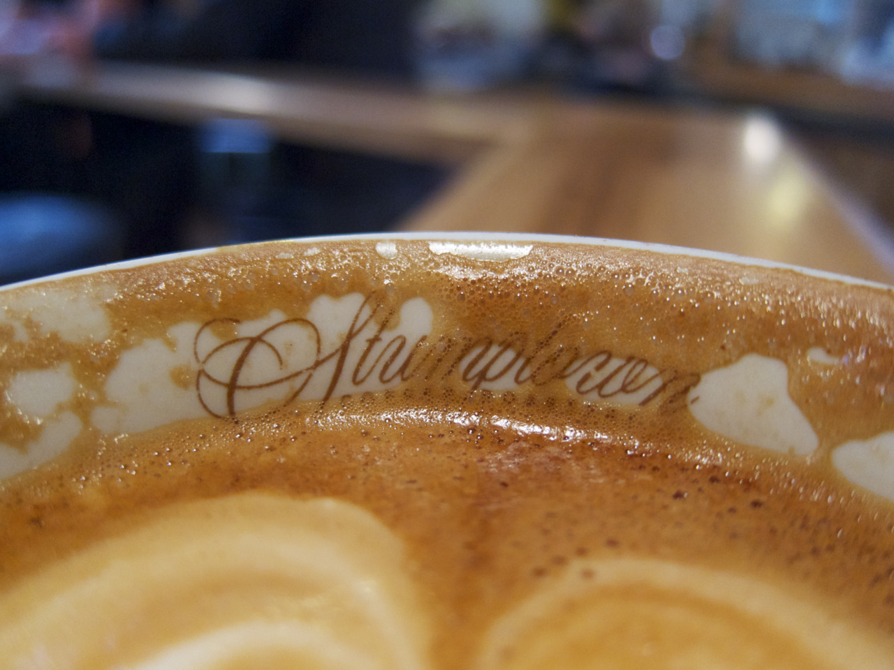 A cappuccino at the original Stumptown in Portland. To my surprise, some of the best shots of their Hairbender espresso blend that I had weren't served at Stumptown, but at coffee bars in Portland and Los Angeles.