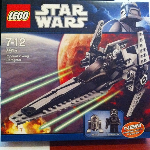 It's never too late to receive a birthday present #Lego #StarWars Imperial V-Wing Starfighter @StarWars (Taken with instagram)