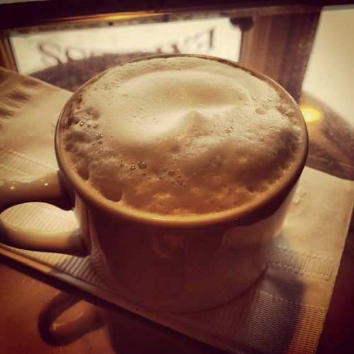 #Macchiato #coffee #CoffeeDate #foam #delicious #yum #cafe (Taken with Instagram at Cafe Tosi's)