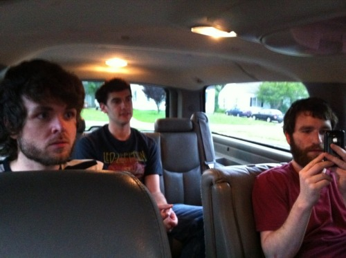All up inside our sexy new wheels. We're working on new music and will begin an onslaught of prolapse-inducing regional shows starting in May, so start doing kegel exercises now while there's still time.
