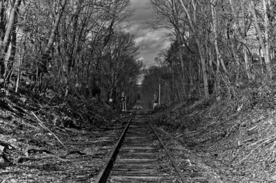 Railroad Tracks in Nutley, NJ