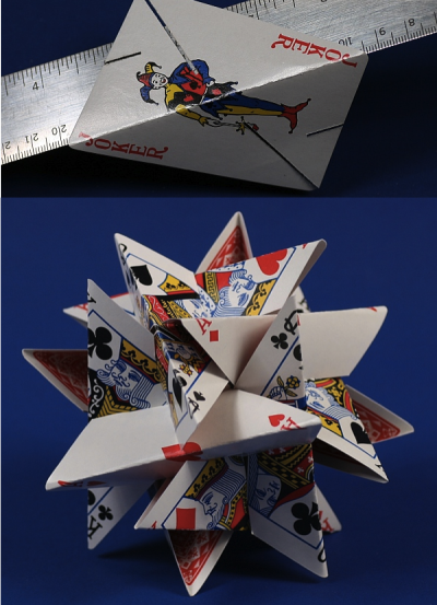 szymon:  12-Card Star Sculpture by George Hart