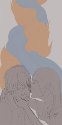 Zutara Rough Sketch idea knocked out after work tonight. Zuko x Katara = <3 April 11, 2012