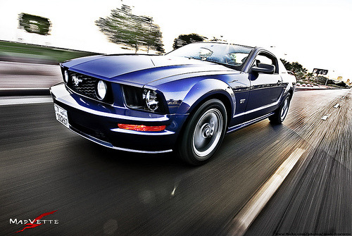 carpr0n:  Racing the sunlight Starring: Ford Mustang (by MadVette)