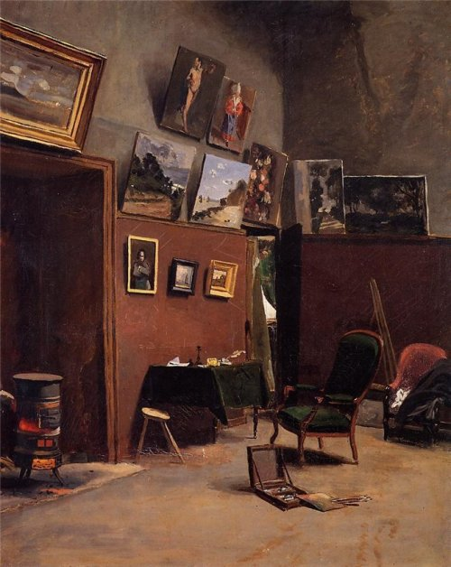 poboh:  The Studio on the Rue de Furstenberg, Jean Frederic Bazille. French Impressionist painter (1841 – 1870)