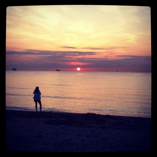 Florida Sunrise (Taken with Instagram at South Beach Fort Lauderdale)